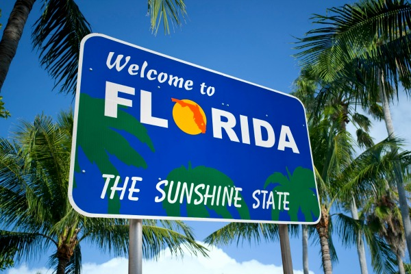 Pharmacy Schools in Florida. Sign welcoming students to the state of Florida