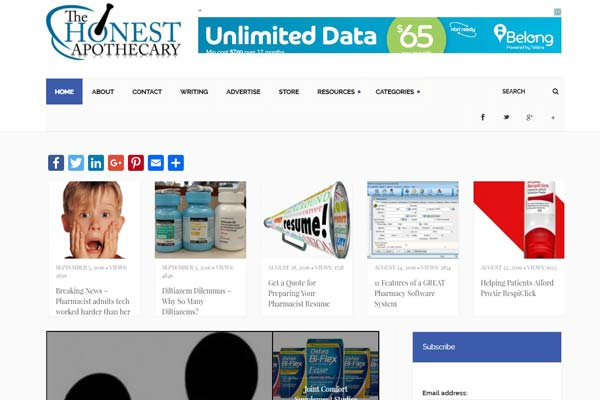 Check out 18 high quality pharmacy blogs in the USA.